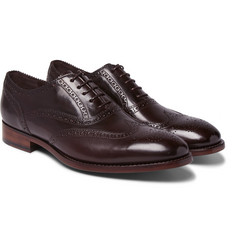 Paul Smith - Cristo Burnished-Leather Wingtip Brogues