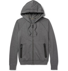 Bottega Veneta Slim-Fit Fleece-Back Cotton and Wool-Blend Jersey Zip-Up Hoodie
