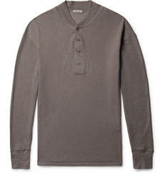 Bottega Veneta Brushed Cotton and Modal-Blend Henley T-Shirt