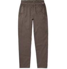 Bottega Veneta Slim-Fit Garment-Dyed Cotton Trousers