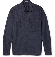 Bottega Veneta Striped Denim Shirt