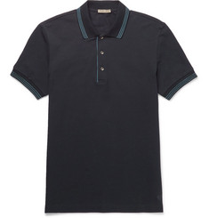 Bottega Veneta Contrast-Tipped Cotton-Piqué Polo Shirt