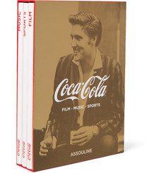 Assouline Set of 3 Hardcover Books Coca-Cola: Film, Music and Sports