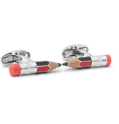 Paul Smith Enamelled Silver-Tone Cufflinks