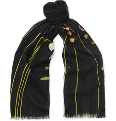 Paul Smith Floral-Print Modal and Cotton-Blend Scarf