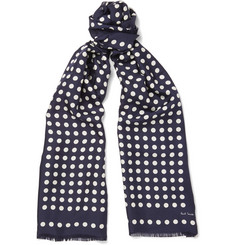 Paul Smith - Polka Dot Silk-Twill Scarf