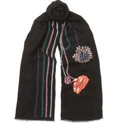 Paul Smith - Embroidered Wool Scarf