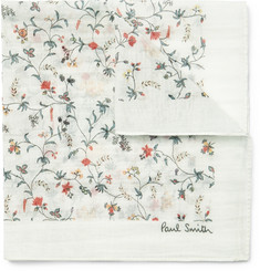 Paul Smith Floral-Print Cotton and Silk-Blend Pocket Square