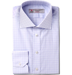 Turnbull & Asser - Slim-Fit Windowpane-Checked Cotton Shirt