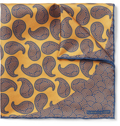 Turnbull & Asser Printed Silk-Twill Pocket Square