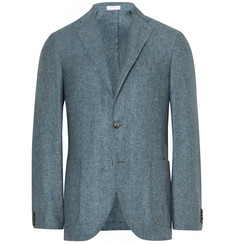 Boglioli - Blue K-Jacket Slim-Fit Slub Silk and Linen-Blend Blazer