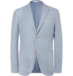 Boglioli Blue K-Jacket Wool and Silk-Blend Blazer