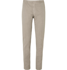 Boglioli Brown Slub Cotton and Linen-Blend Suit Trousers