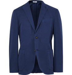 Boglioli Blue K-Jacket Slim-Fit Cotton and Linen-Blend Suit Jacket