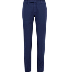 Boglioli Blue Slim-Fit Cotton and Linen-Blend Suit Trousers