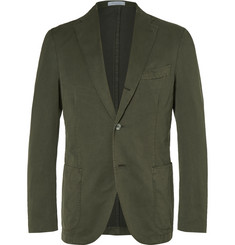 Boglioli Green Slim-Fit Stretch Cotton-Blend Suit Jacket