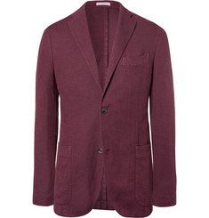 Boglioli Red Slim-Fit Unstructured Cotton, Linen and Silk-Blend Blazer