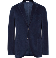 Boglioli - Blue K-Jacket Slim-Fit Stretch-Cotton Corduroy Blazer