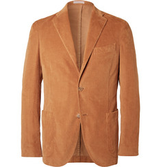 Boglioli Camel Slim-Fit Stretch-Cotton Corduroy Blazer