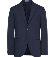 Boglioli Blue K-Jacket Slim-Fit Wool And Mohair-Blend Blazer