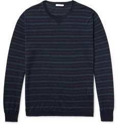 Boglioli Striped Virgin Wool and Silk-Blend Sweater