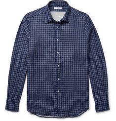 Boglioli Slim-Fit Double-Faced Checked Cotton Shirt