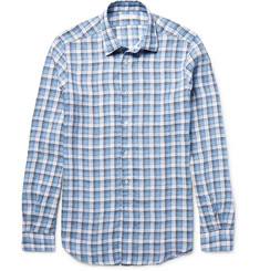Boglioli Checked Linen Shirt