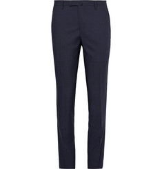 Boglioli Blue Wool and Mohair-Blend Suit Trousers