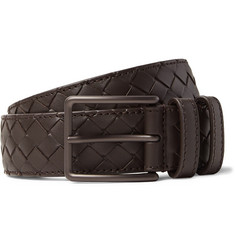 Bottega Veneta - 3.5cm Brown Intrecciato Leather Belt