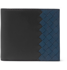 Bottega Veneta - Two-Tone Intrecciato Leather Billfold Wallet