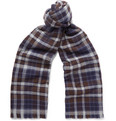 Kingsman - + Drake's Checked Merino Wool and Cashmere-Blend Scarf