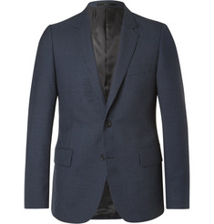 Paul Smith Blue Soho Slim-Fit Gingham Wool Suit Jacket