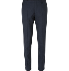 Paul Smith Blue Soho Slim-Fit Gingham Wool Suit Trousers