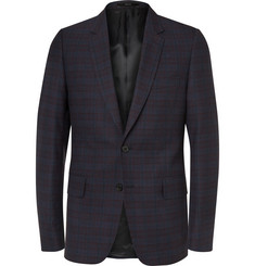 Paul Smith Navy Soho Slim-Fit Wool and Silk-Blend Jacquard Suit Jacket