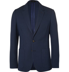 Paul Smith Blue Slim-Fit Unstructured Merino Wool Blazer