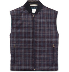 Paul Smith Checked Wool and Silk-Blend Gilet