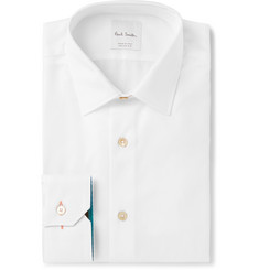 Paul Smith White Slim-Fit Cotton-Twill Shirt
