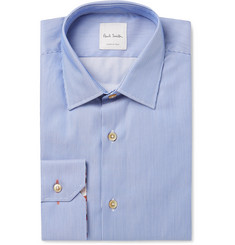 Paul Smith Blue Slim-Fit Striped Cotton Shirt