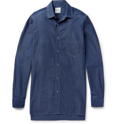Paul Smith Oversized Triple-Stitched Denim Shirt