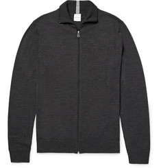 Paul Smith Mélange Merino Wool Zip-Up Cardigan