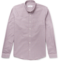 AMI - Slim-Fit Button-Down Collar Gingham Cotton Oxford Shirt