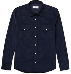 AMI Slim-Fit Cotton-Corduroy Western Shirt
