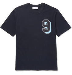 AMI - Appliquéd Cotton-Jersey T-Shirt