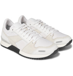AMI - Panelled Leather, Suede and Mesh Sneakers