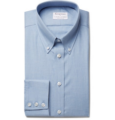 Kingsman - + Turnbull & Asser Blue Slim-Fit Brushed-Cotton Shirt