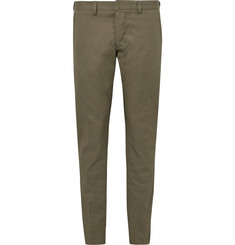 AMI Slim-Fit Cotton-Gabardine Trousers