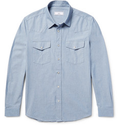AMI Cotton Oxford Western Shirt