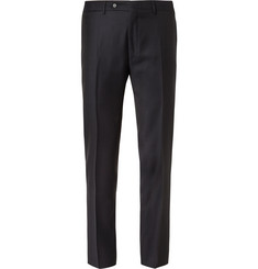 Canali Blue Slim-Fit Super 130s Wool Suit Trousers