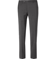 Canali Grey Slim-Fit Wool-Sharkskin Suit Trousers