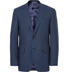 Canali Blue Slim-Fit Birdseye Super 120s Wool Suit Jacket